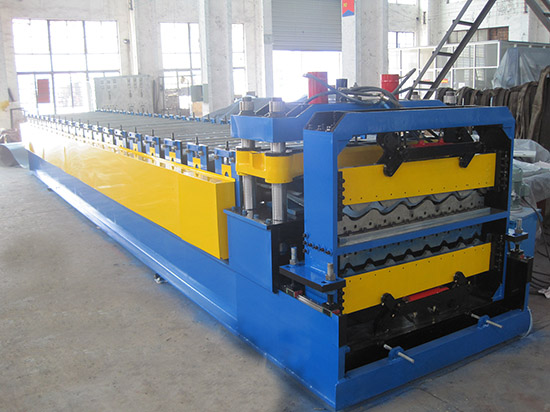 Tile & roof panel double layer machine